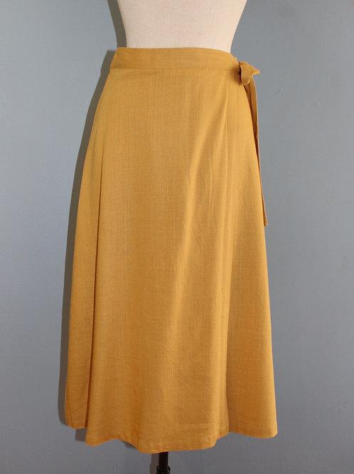 marigold midi wrap skirt