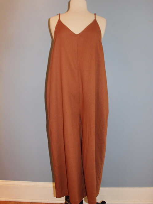 rust relaxed jumpsuit
