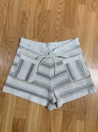 Almond/Grey Stripe Shorts