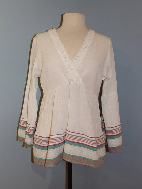 ivory lace back with stripes