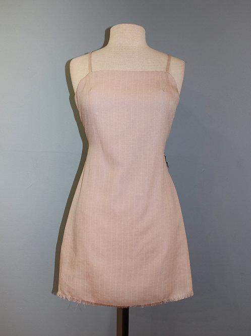 pin stripe tie back dress