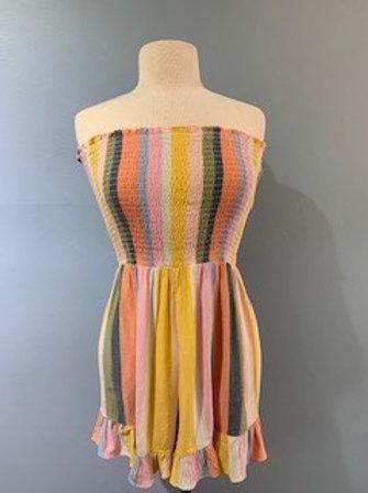 Multi-Color Striped Romper