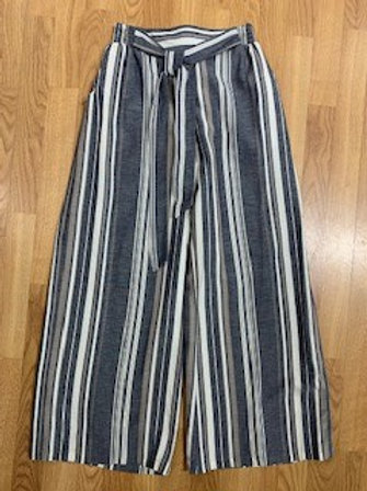 Angie Wide Leg Striped Pants