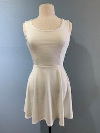White Sleeveless Jersey Dress