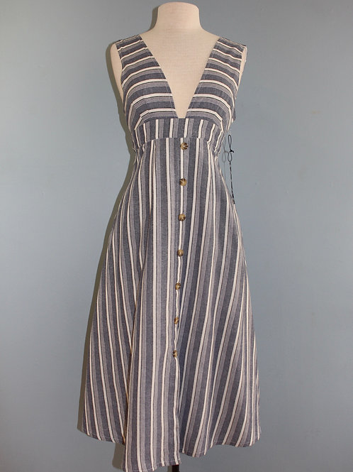slate striped midi w/ tie back