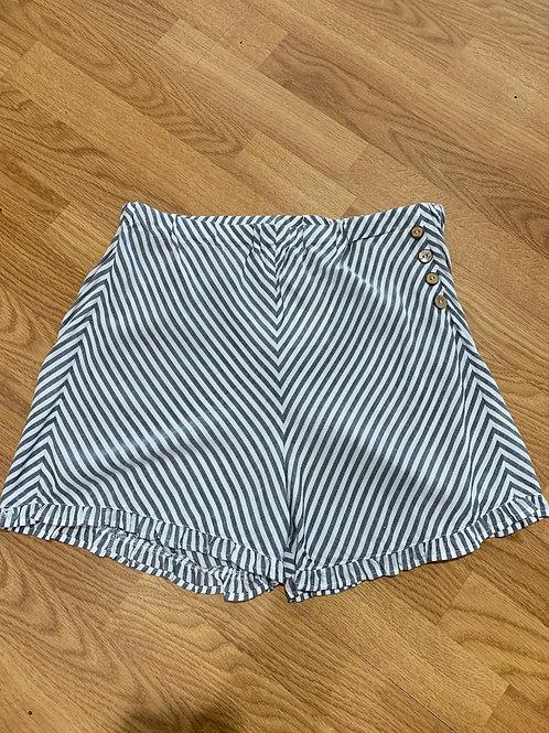 Grey/White Stripe Shorts