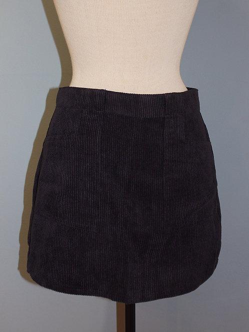 navy cord mini skirt