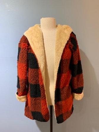 Plaid Reversible Teddy Bear Coat