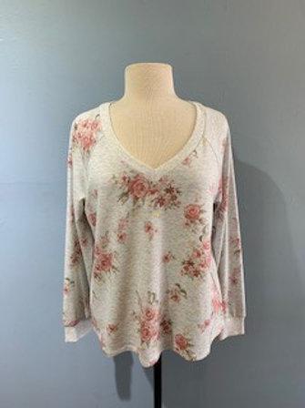 Light Grey Floral Sweatshirt