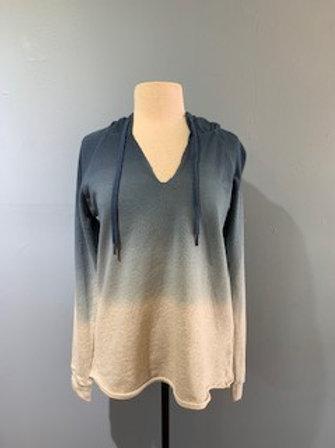 Dip Dye Raw Edge Sweatshirt