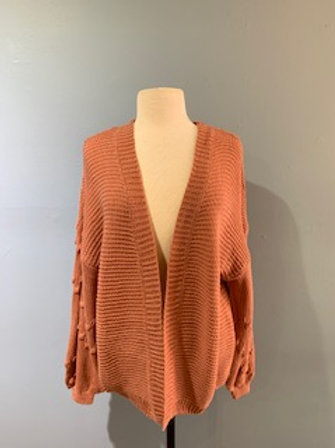Desert Rose Balloon Sleeve Cardigan