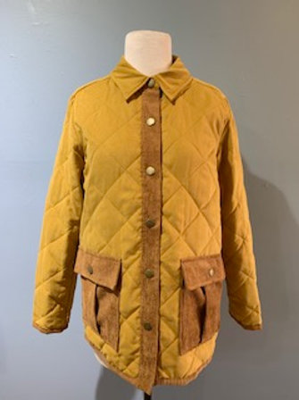 Mustard Quilted Jacket