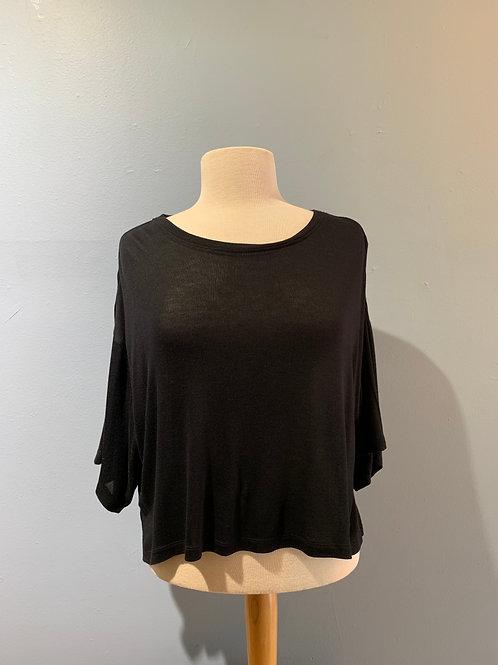 Lightweight Black Cropped Sweater