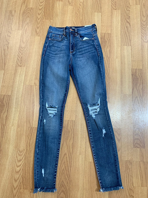 Ripped Skinny Hi Rise Jeans