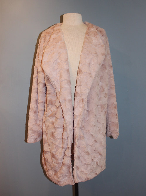 blush faux car coat