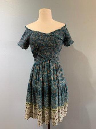 Off Shoulder Multi Floral Dress