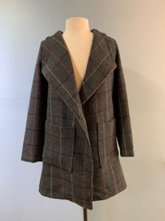 Black Tweed Open Jacket