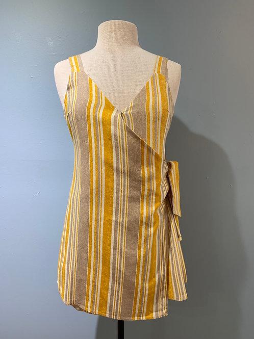 Yellow Striped Romper