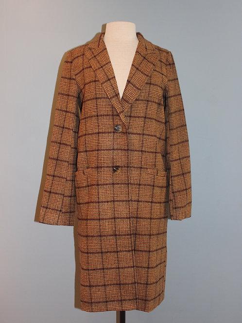 burgundy tweed car coat
