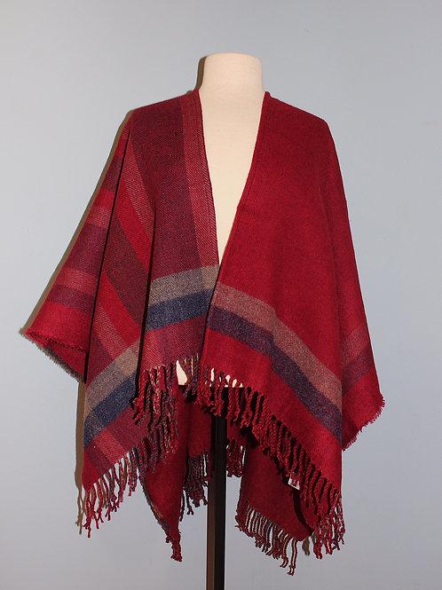 red plaid cape