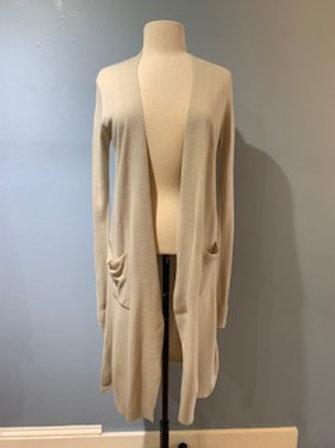 Moth Grey Long Cardigan