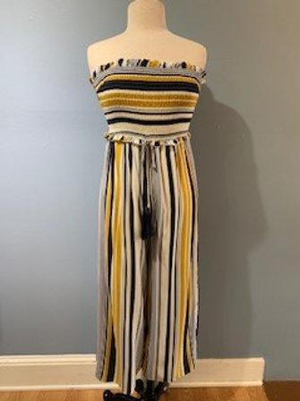 Striped Tube Jumpsuit