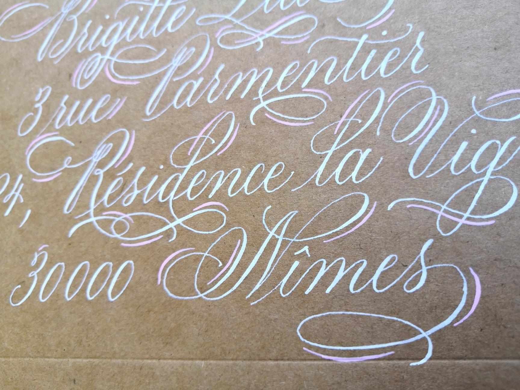 calligraphie évènementielle
