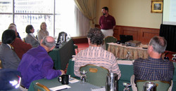 1 Gary Karns leads preconference workshop