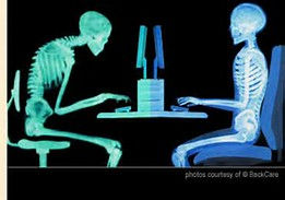 Poor computer posture and back support vs proper computer posture and back support