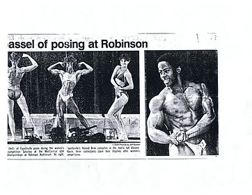 Dr. Roland K. Brim competing in bodybuiling