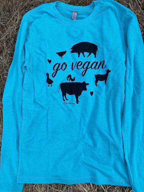 Tri-Blend Go Vegan Long Sleeve T-Shirt