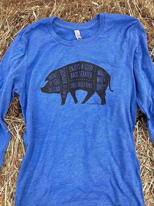 Tri-Blend Pig Pals Long Sleeve T-Shirt