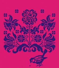 1x_Kreuzstich_Blütenornament+QR_Taipeh_240x280cm_pink