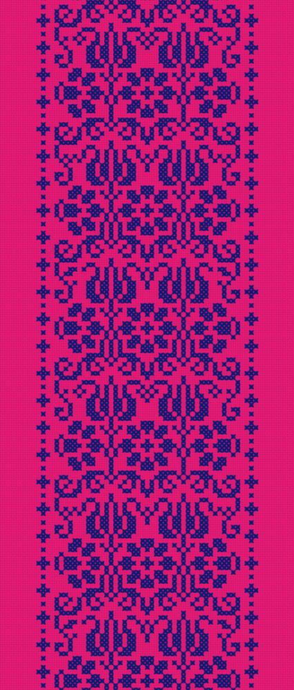 4x_Kreuzstich_Blütenbordüre_flächig_Taipeh_130x305cm_pink
