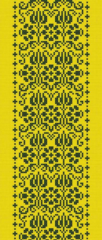 4x_Kreuzstich_Blütenbordüre_flächig_Taipeh_130x305cm_gelb_email