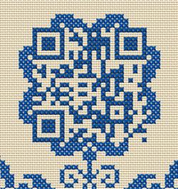Kreuzstich_Blütenornament+QR-Code
