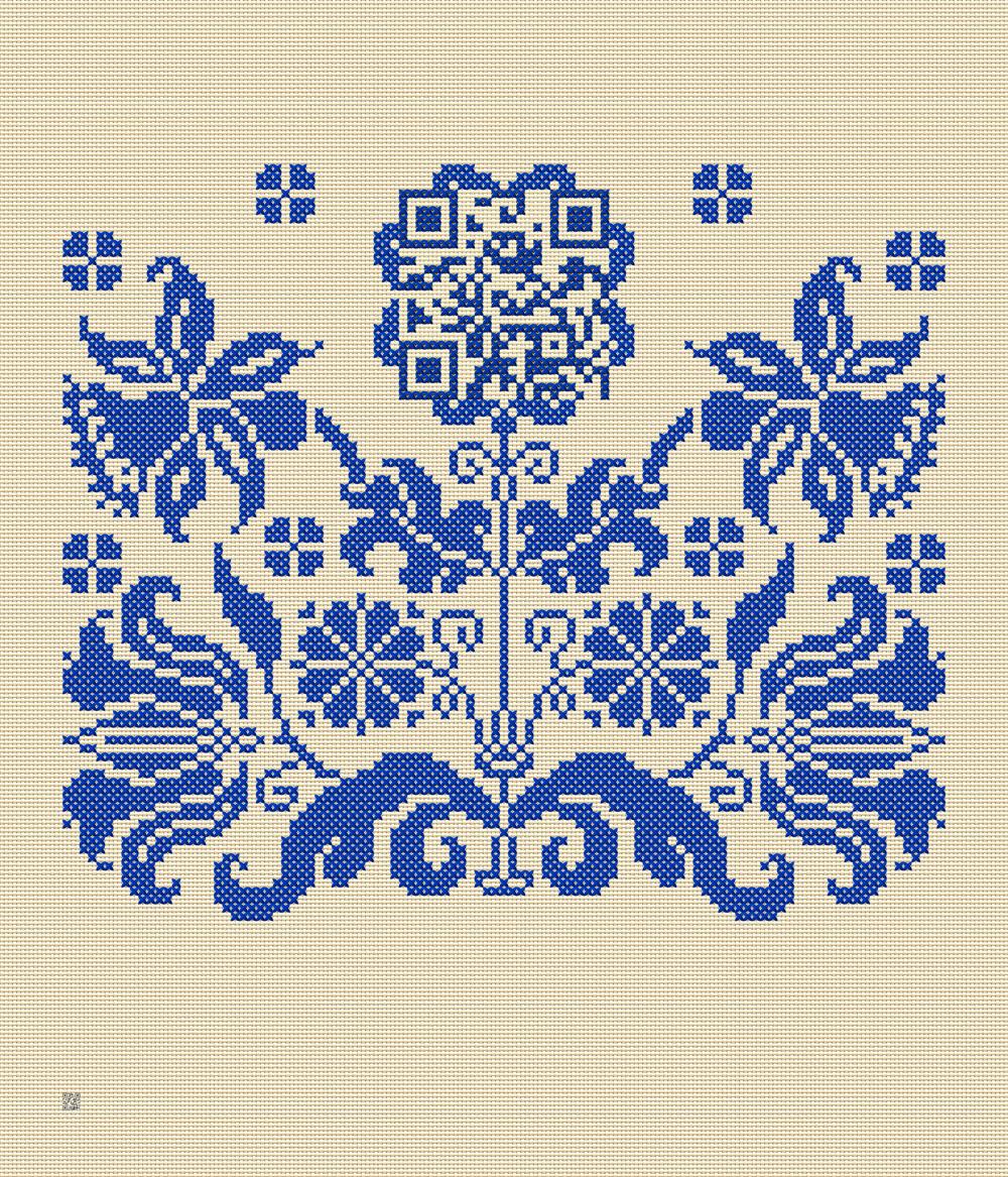 1x_Kreuzstich_Blütenornament+QR_Taipeh_240x280cm_beige