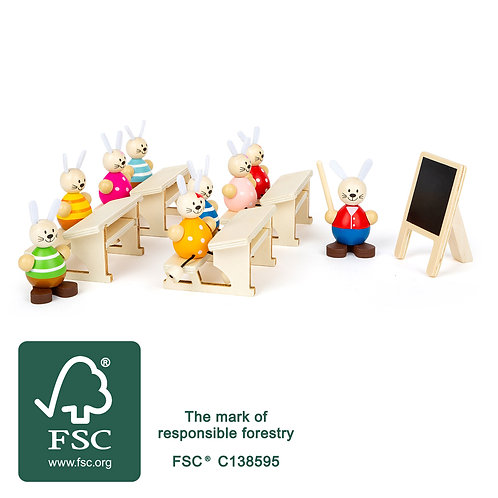 Rabbit's School Play Set