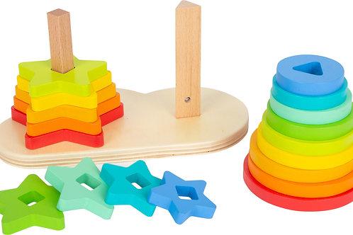 Rainbow Shape Fitting Game