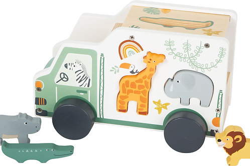 "Toy Car Shape-Fitting Game ""Safari"""