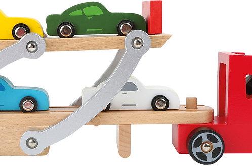 Wooden Car Transporter Toy