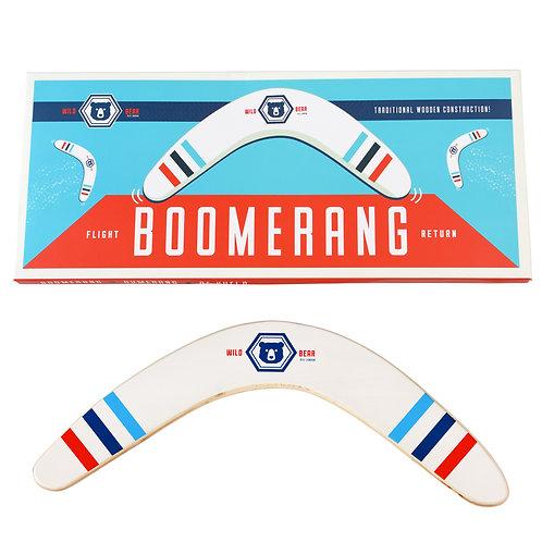 Wild Bear Wooden Boomerang