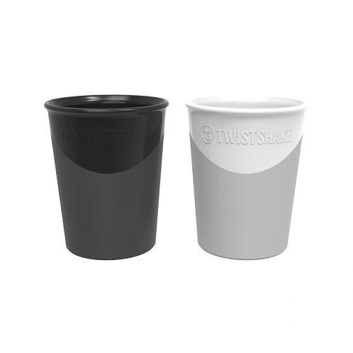 TWISTSHAKE CUP 2X 170ML Black/White