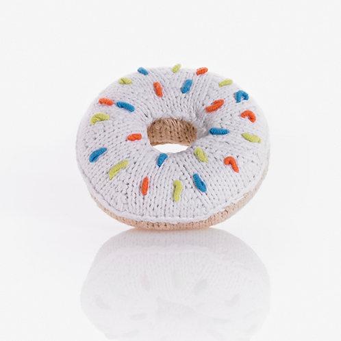 White Donut Rattle