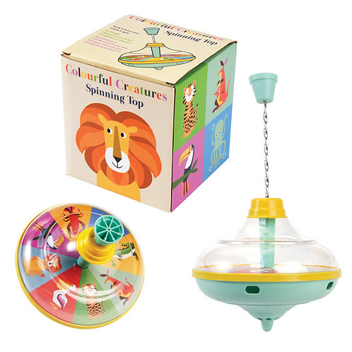 COLOURFUL CREATURES SPINNING TOP
