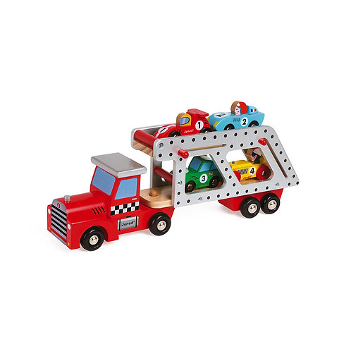 STORY 4 CARS TRANSPORTER LORRY (WOOD)