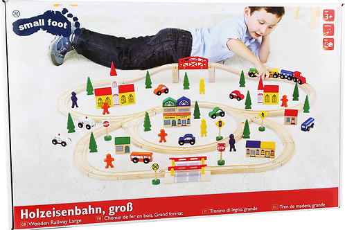 100 Piece Wooden Train Set Railway