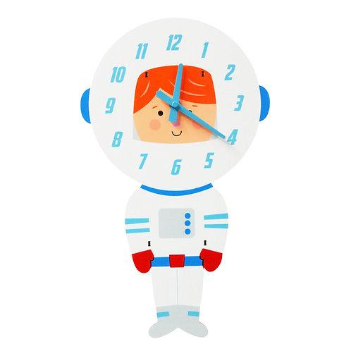 Astronaut Wooden Clock