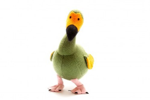 MOSS GREEN KNITTED DODO SOFT TOY