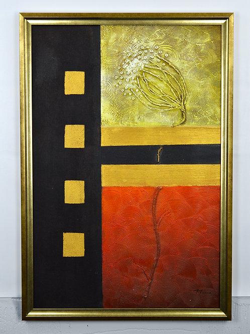 'Life - Impasto' by P.Fiona - Original Oil Painting Framed